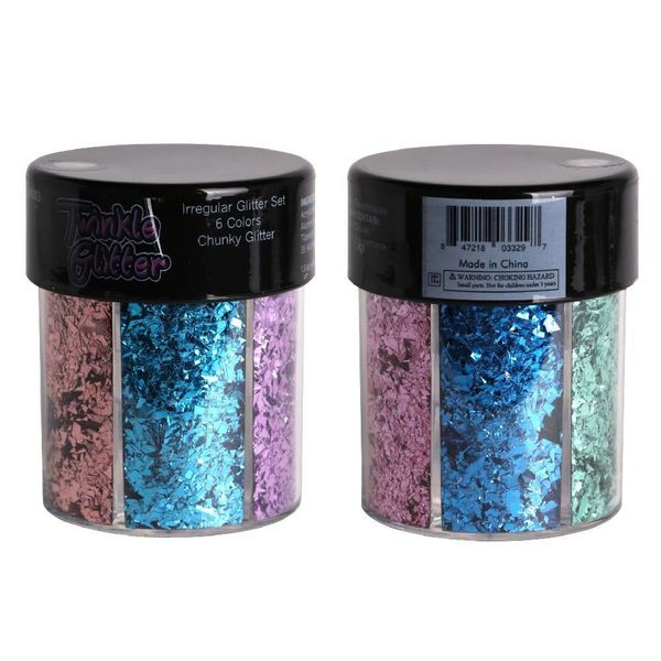 Groove Mixed Color Metallic Chunky or Round Body Glitter