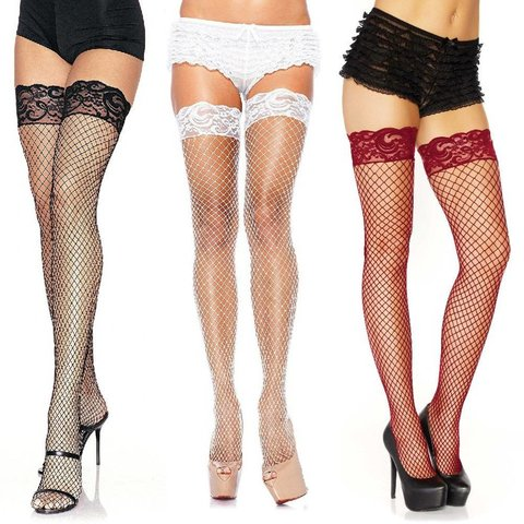 Stay Up Lycra Industrial Fishnet Thigh High One-size