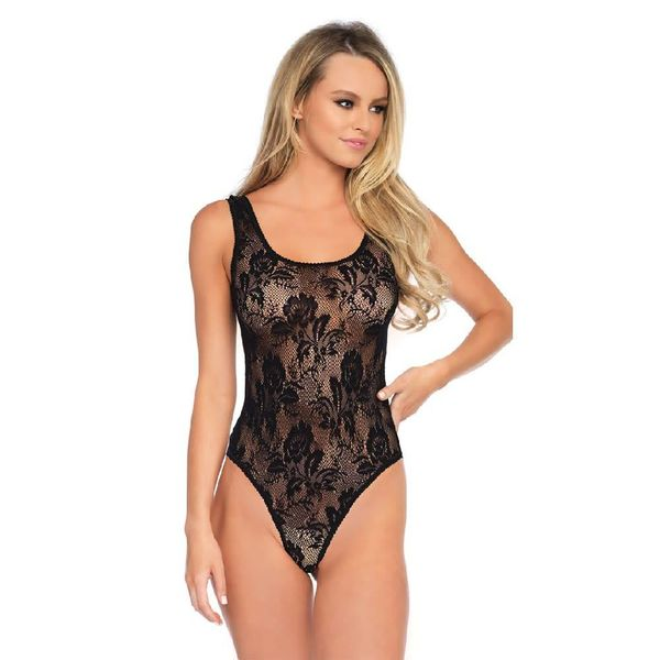 Leg Avenue Rose Lace-up Teddy