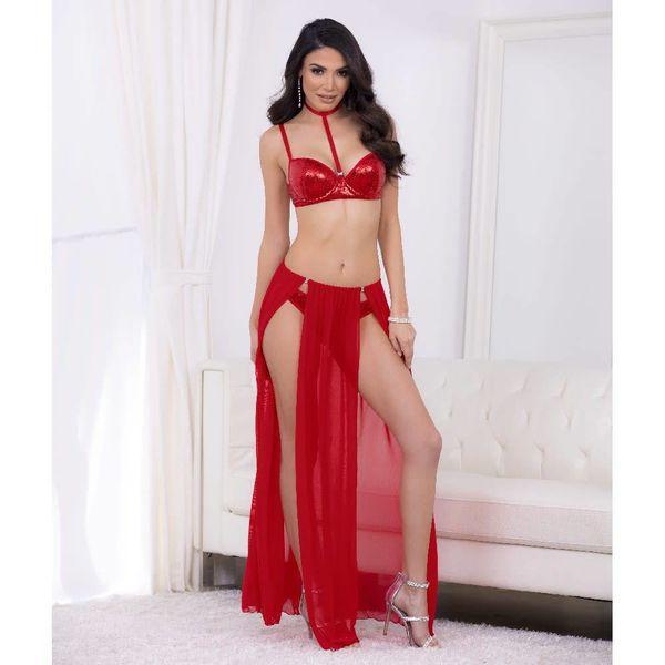 Escante Sequin Bra and Panty Set