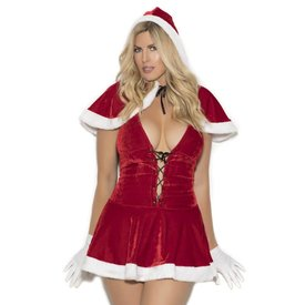 Elegant Moments Mrs Clause Hood and Dress Curvy