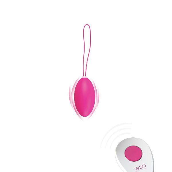 Vedo Peach Remote Vibrating Kegel Ball