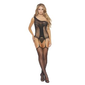 Popsi Sheer Fishnet Bodystocking with Legs