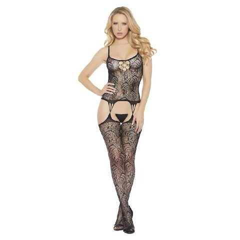 All Over Fishnet and Lace Bodystocking