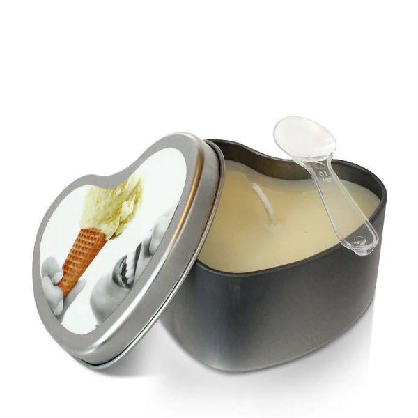 Earthly Body Edible Massage Hemp Candle Vanilla - 4 oz