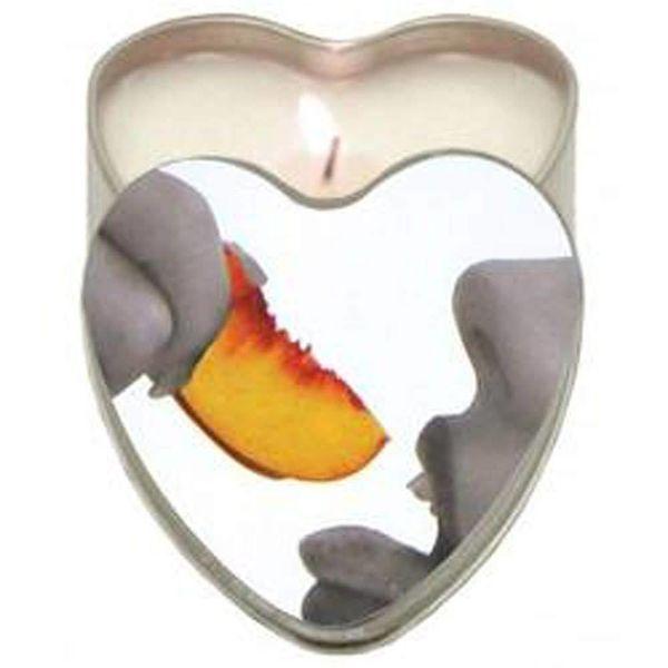 Earthly Body Edible Massage Hemp Candle - Peach