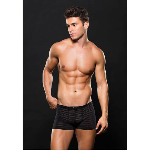 Microfiber Boxer Striped Black