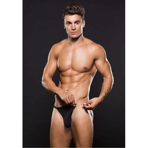 Magnetic Microfiber G-String - Black