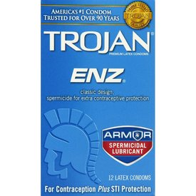 Trojan ENZ Spermicidal Condom 12-pack