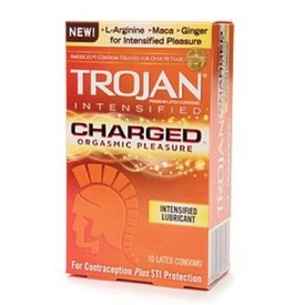 Trojan Intensified Charge Condom 10-pack