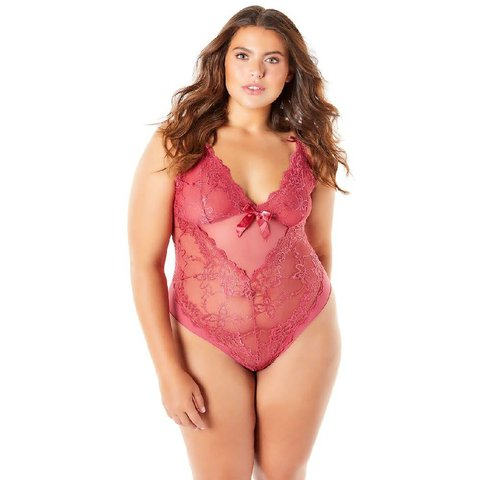 Soft Cup Teddy With Lace Detail - Curvy