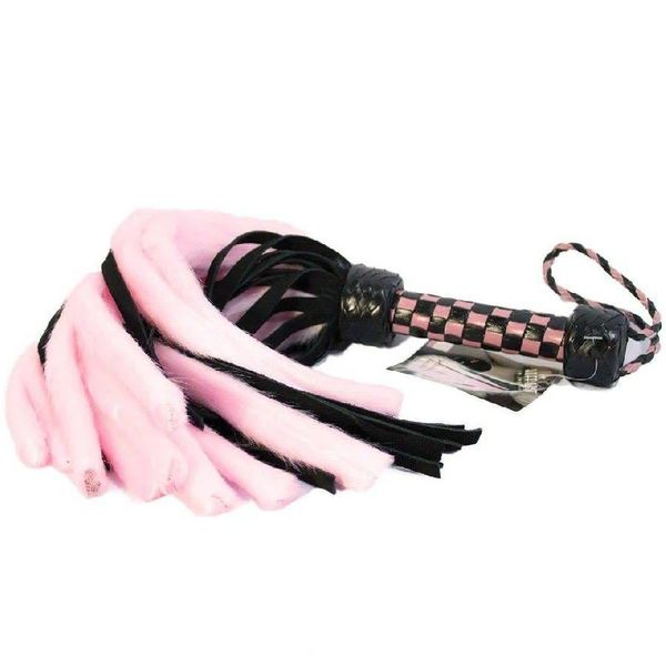 Ruff Doggie Styles Suede and Fluff MINI Flogger - 18""