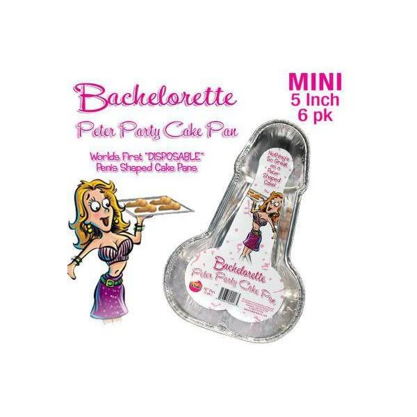 Hott Products Bachelorette Disposable Peter Party Cake Pan - Small Pack of 6