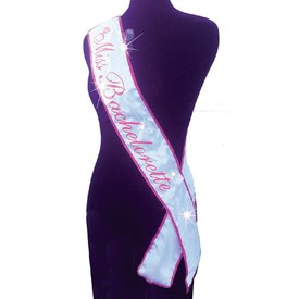 Little Genie Miss Bachelorette Pink Light Up Sash