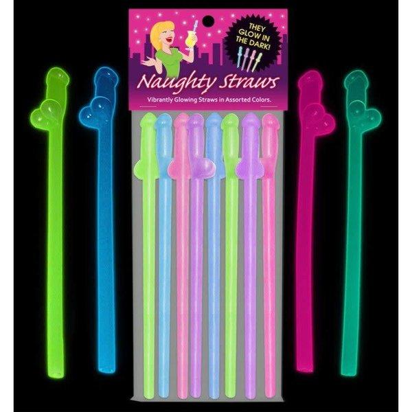 Kheper Games Glow Naughty Straws 8pk