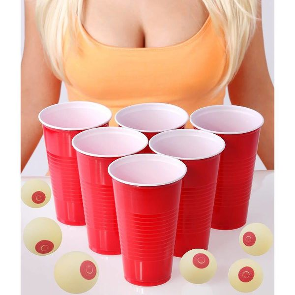 Boob Beer Pong Balls - 6 pack