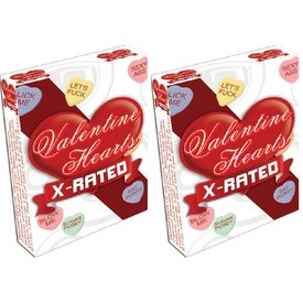 Valentine X-Rated Candy Hearts 2oz Box