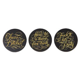 Calligraphuck Cheers Bitches Coasters 15pk