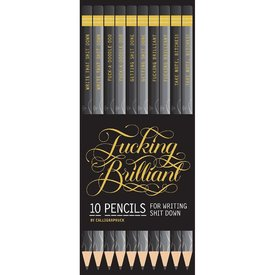Calligraphuck Fucking Brilliant Pencils 10 Pack