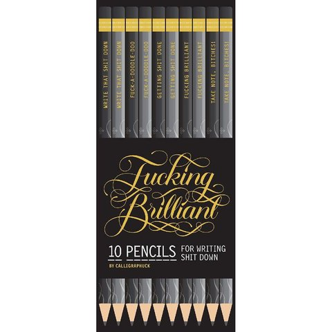 Fucking Brilliant Pencils 10 Pack