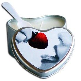 Earthly Body Edible Massage Hemp Candle - Strawberry 4 oz