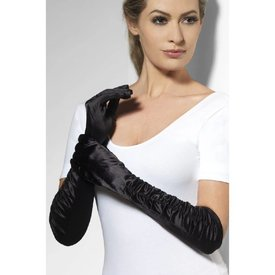 Fever/Smiffys Temptress Gloves - Black