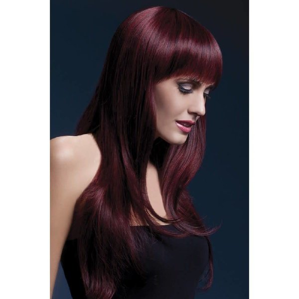 Fever/Smiffys Sienna Wig - Black Cherry