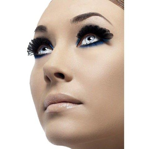 Eyelashes Black Round Plumes