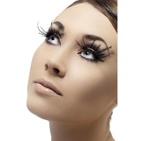 Fever/Smiffys Eyelashes Black Large Plumes