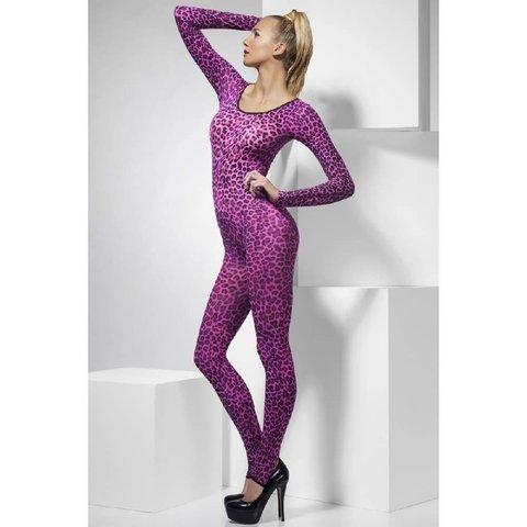 Cheetah Print Bodysuit Pink  - One Size