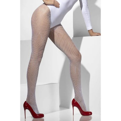 Fishnet Tights One Size - White