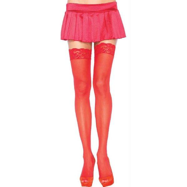 Leg Avenue Nylon Sheer Thigh Hi Lace Top