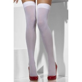 Fever/Smiffys Thigh High Stay-up Opaque White - One Size