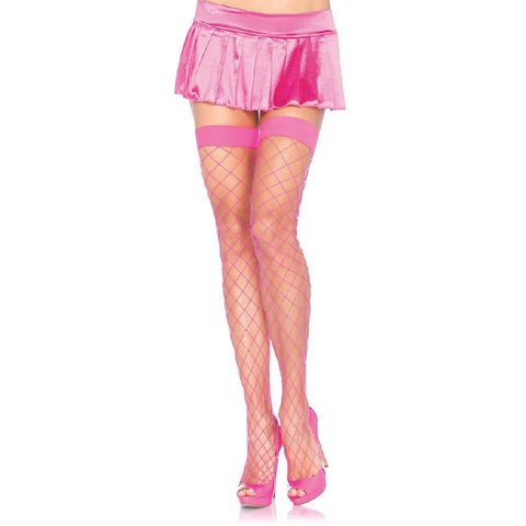 Fence Net Thigh High Stockings One Size