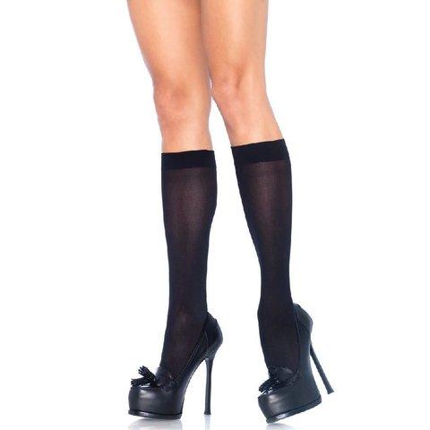 Nylon Knee Hi Black - One Size