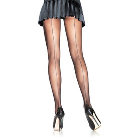 Leg Avenue Sheer Backseam Pantyhose Black - One Size