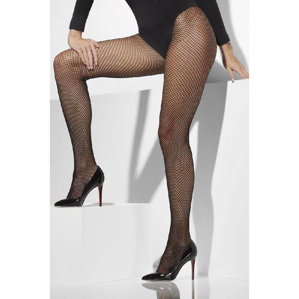 Fever/Smiffys Fishnet Tights Queen Size - Black