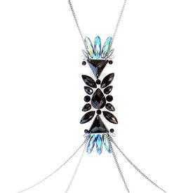 Lunautics Dark Angel Body Crystal with Chain