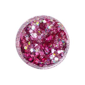 Lunautics Pink Rozu Biodegradable Body Glitter