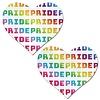 White Rainbow Pride Heart Pasties