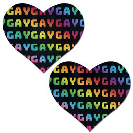 Pastease Black Rainbow Gay Pasties