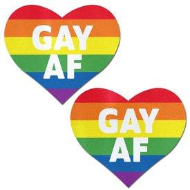 "Pastease Rainbow ""Gay AF"" Pasties"