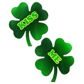 "Pastease ""Kiss Me"" Shamrock Pasties"