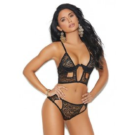 Elegant Moments Long Line Keyhole Bra Set