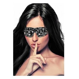 Shots Printed Eye Mask - Love Street Art - Black
