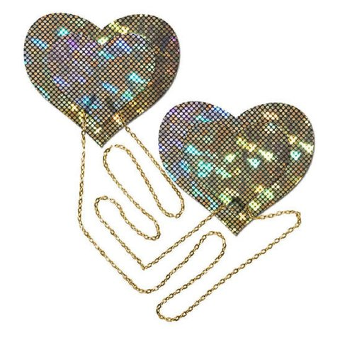 Chained Gold Disco Ball Pasties