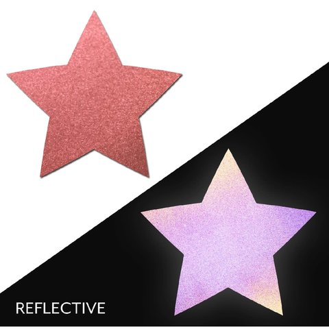 Light Reflective Red Star Pasties