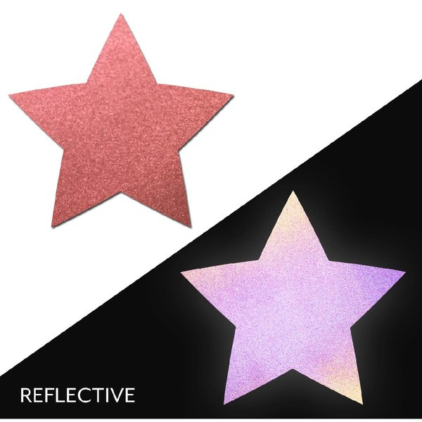 Pastease Light Reflective Red Star Pasties