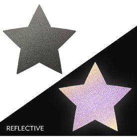 Pastease Light Reflective Gun Metal Grey Star Pasties