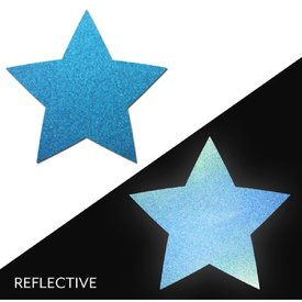 Pastease Light Reflective Blue Star Pasties